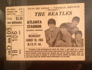 At 10 years old, I wrote WQXI for tickets to this Beatles concert - $5.50