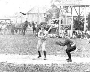 My grandfather at bat…not really, but it's a great photo